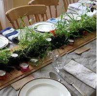 Living and sustainable table centrepiece