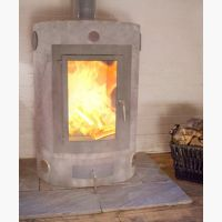 Oval Wood Burning Ecco Stove After Installation