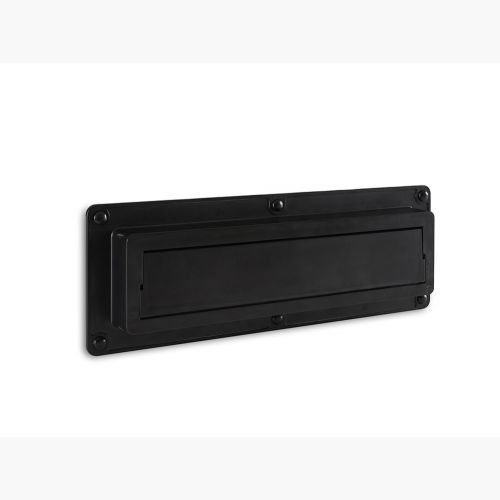 EcoFlap Letterbox Draught Excluder Black