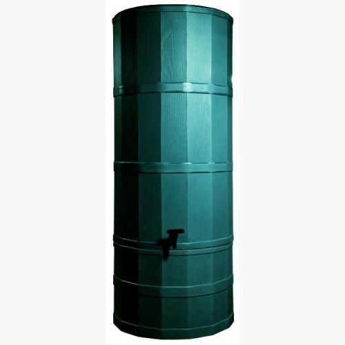 Green 220 Litre Rainwater Harvesting Tank Installed In Garden