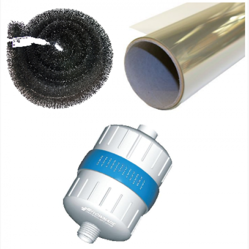 Starter Kit for Summer - Disposable Shower Filter - Solar Control 20 Solar Film - Hedgehog Gutter Brush